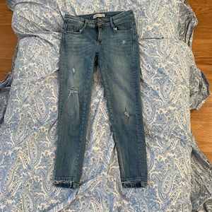 Zara blue skinny ankle length jeans